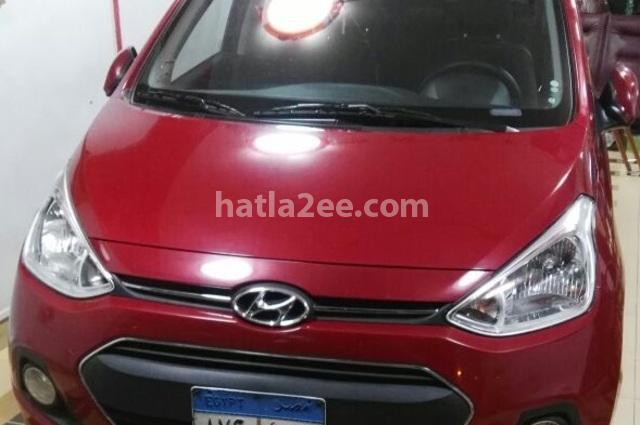 Grand i10 Hyundai احمر غامق