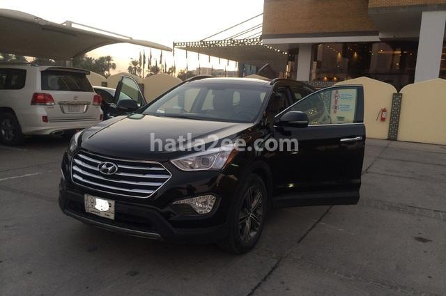 Grand Santa Fe Hyundai أسود