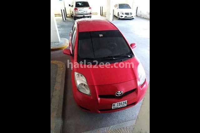 Yaris Toyota احمر