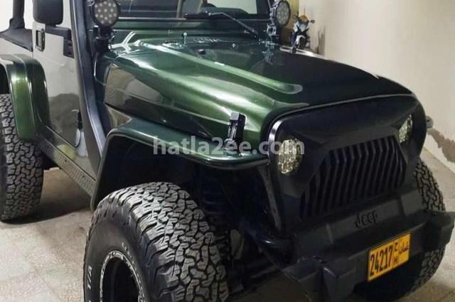 Wrangler Jeep اخضر غامق