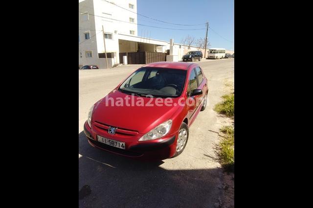 307 Peugeot احمر غامق