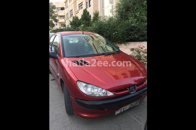 206 Peugeot احمر