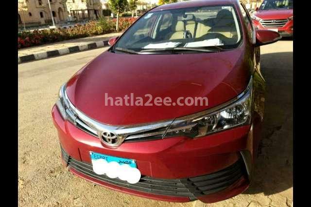 Corolla Toyota Dark red
