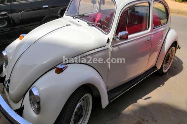 Beetle Volkswagen أبيض