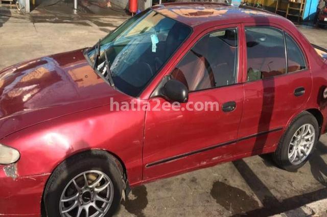 Accent Hyundai Dark red
