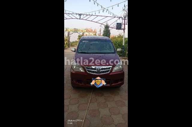 Avanza Toyota Dark red