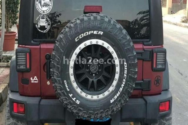 Wrangler Jeep احمر غامق