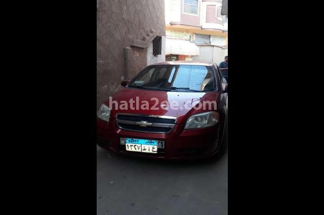 Aveo Chevrolet Dark red