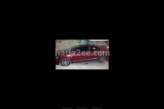 Civic Honda Dark red