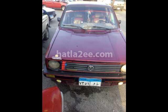 Golf Volkswagen Dark red
