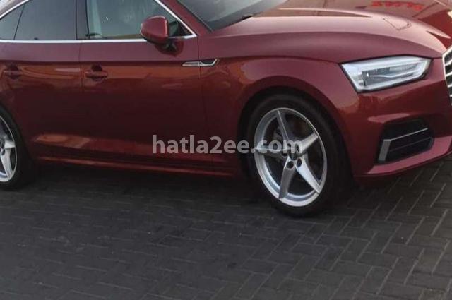 A5 Audi Dark red