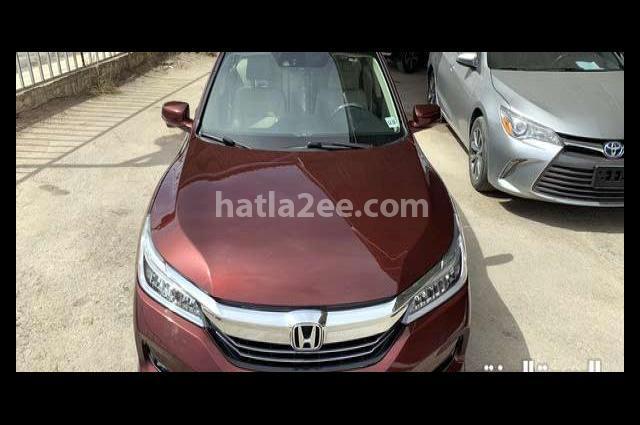 Accord Honda Dark red