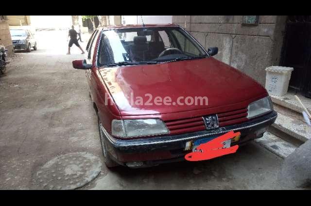 405 Peugeot احمر غامق