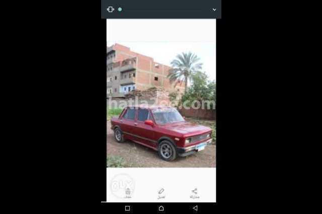 128 Fiat احمر غامق